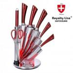 Σετ 5 Μαχαιριών Κουζίνας από Χυτό Ατσάλι με Μπαλτά & Ψαλίδι Royalty Line RL KSS800