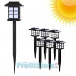 Σετ 6 x Ηλιακό Φωτιστικό Κήπου LED 39cm Αδιάβροχο Καρφωτό Χωνευτό Χώματος με Ηλιακό Πάνελ & Φωτοκύτταρο
