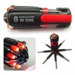 Σετ 8 σε 1 Πολυεργαλείο - Φακός LED QC-207