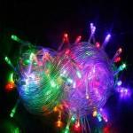 Φώτα Led 300 Λαμπάκια RGB Πολύχρωμο με Λευκό Καλώδιο - Χριστουγεννιάτικα Λαμπάκια