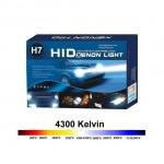 Φώτα XENON H7 Αυτοκινήτου 35Watt - Πλήρες Kit H.I.D. 4300k CAN BUS