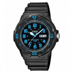 Ρολόι CASIO Collection Black Rubber Strap MRW-200H-2BVEF