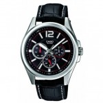 Ρολόι CASIO Collection Black Leather Strap MTP-1355L-1AVEF