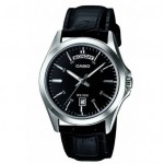 Ρολόι CASIO Collection Black Leather Strap MTP-1370L-1AVEF