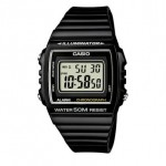 Ρολόι CASIO Collection Black Rubber Strap W-215H-1AVEF