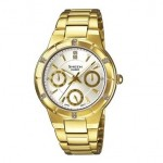 Ρολόι CASIO SHEEN Crystal Ladies Gold Stainless Steel SHE-3800GD-7AEF