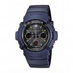 Ρολόι CASIO G-SHOCK Anadigi Blue Rubber Strap AWG-M100NV-2AER