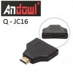 Βύσμα HDMI 1 σε 2 ANDOWL