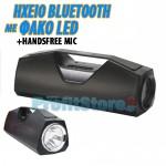 Ηχείο HiFi Bluetooth με Μικρόφωνο για Handsfree Ομιλία & Ηχογράφηση, Φακό LED - Multimedia Speaker USB/SD/AUX/FM MP3 Player, Hands Free Kit
