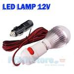 Λάμπα LED 12V-5W με Καλώδιο για Σύνδεση στον Αναπτήρα του Αυτοκινήτου