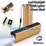 Φακός LED 200LM Αντιανεμικός USB Αναπτήρας και Power Bank 3 σε 1