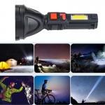 Φακός LED 4000lm & Πλαινός Φακός LED COB με 4 Λειτουργίες Φωτισμού, Επαναφορτιζόμενος - Pro-Race L830 - OEM