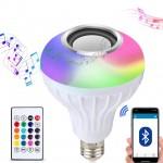 Λάμπα LED RGB & Ηχείο Bluetooth Multimedia Speaker που Αλλάζει Χρώματα & Παίζει Μουσική Λευκό OEM