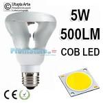 Λάμπα LED τύπου Καθρέπτου R80 E27 5Watt 230v Καθαρό Γυαλί Ψυχρό Φως 6400Κ 500LM