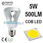 Λάμπα LED τύπου Καθρέπτου R63 E27 5Watt 230v Καθαρό Γυαλί Ψυχρό Φως 6400Κ 500LM