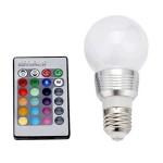 Λάμπα RGB LED  με Τηλεχειρισμό, Dimmer & Εναλλασσόμενο Πολύχρωμο Φωτισμό