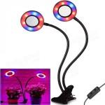 Διπλό LED Φωτιστικό USB Ανάπτυξης Φυτών Full Spectrum με Κλιπ & Εύκαμπτο Βραχίονα - Λάμπα Θερμοκηπίου - Plant Grow Light