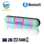 Φορητό Bluetooth Ηχείο 10W USB/SD/AUX Multimedia Player KINGWON JHW-V318 LED