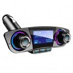Πομπός FM Transmitter Bluetooth 5.0 Handsfree USB/AUX/SD MP3 Player Αυτοκινήτου & 2 x USB Φορτιστής με Οθόνη 1,3 Inch & Μικρόφωνο 12V & 24V