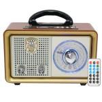 Φορητό Retro Επαναφορτιζόμενο Ραδιόφωνο & Mp3 Player με Τηλεχειριστήριο FM/AM/SW3, USB, SD/ TF CARD, AUX - Meier M-U110
