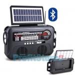 Μεγάλο Retro Ηλιακό Bluetooth Ραδιόφωνο - Ηχείο Stereo με Φακό & Φωτιστικό LED & USB/SD Player FM/AM/SW1-6