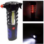 Φακός - SOS Φωτιστικό - Πολυεργαλείο Αυτοκινήτου με Σφυρί, Κόφτη Ζώνης, Μαγνητική Βάση - Multi-Purpose Flashlight