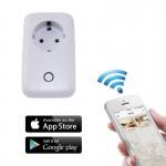 Έξυπνη Wifi Wireless Τηλεχειριζόμενη Πρίζα Ρεύματος ANDOWL 10A 2200W Έλεγχος μέσω Smartphone App - EU