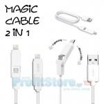 Καλώδιο 2 σε 1 - microUSB & Lighting για Κινητά Τηλέφωνα & iPhone 5/5s/5c/6/6plus - iPad