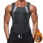 Ανδρική Mπλούζα Eφίδρωσης Αδυνατίσματος με Φερμουάρ Small - Men Sweat Vest