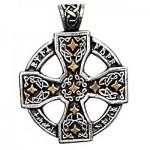 Φυλαχτό Runic Celtic Cross  - Για Γνώση και Μαγική Ικανότητα