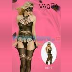Ολόσωμο Sexy Καλσόν με Διάτρητα Σχέδια με Χιαστή στο Μπούστο VAQUA-81016