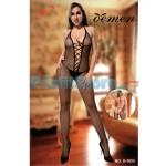 Ολόσωμο Sexy Καλσόν Δίχτυ με Ανοιχτή Πλάτη & Κορδόνι στο Ντεκολτέ S-1025