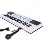USB Αρμόνιο Synthesizer 49 Πλήκτρων με Αυτόματες Συγχορδίες & Μικρόφωνο KARAOKE Electronic Digital Keyboard Παιδικό