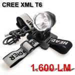 Φακός Κεφαλής - Ποδηλάτου - Σκάφους 1.600LΜ Yπέρ-υψηλής φωτεινότητας  CREE XML T6 LED