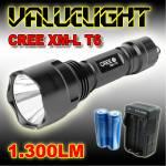 Φακός 1.300 Lumens Υπέρ - υψηλής Φωτεινότητας CREE LED XM-L T6