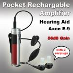 Επαναφορτιζόμενα Ακουστικά Ενίσχυσης Ακοής & Βοήθημα Βαρηκοίας Pocket Size Ε9 - 130dΒ