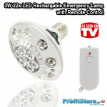 Επαναφορτιζόμενη Λάμπα/Φακός Ασφαλείας με 22 LED και Τηλεχειρισμό