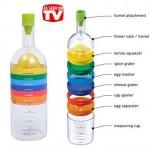 Πολυεργαλείο κουζίνας με 8 διαφορετικά εξαρτήματα σε σχήμα μπουκάλι