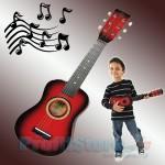 Ξύλινη Παιδική Κιθάρα 6 χορδών με 12 τάστα και μηχανισμό κουρδίσματος.