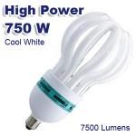 Ισχυρότατος Λαμπτήρας Οικονομίας E27 Spiral 750W (150W) COOL 7000K