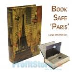 Βιβλίο Χρηματοκιβώτιο Ασφαλείας με Ανάγλυφο Πολυτελές Δέσιμο - Book Safe Paris