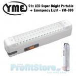 Φωτιστικό Ασφαλείας και Φακός εκτάκτου ανάγκης με 51 Super Bright LEDs
