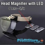 Μεγάλος Μεγεθυντικός Φακός κεφαλής με φωτισμό LED & μεγέθυνση 5,5x