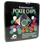 Επαγγελματικό Πόκερ Σετ με 2x Τράπουλες και 100x Μάρκες
