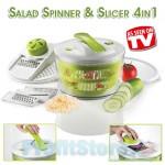 Συσκευή Παρασκευής & Στραγγίσματος Σαλάτας - Πολυκόφτης - Salad Spinner 4in1
