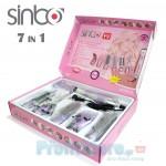 Πλήρες Σετ Περιποίησης Μαλλιών 7 σε 1 με Σεσουάρ, Βούρτσα & Σίδερο Sinbo 600-6