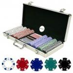 Μεταλλικό Βαλιτσάκι Πόκερ με 400 Μάρκες Casino 11,5g + 2 Τράπουλες + 5 Ζάρια