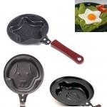 Σετ από Τρία Τηγάνια με Διαφορετικά Σχέδια για Aυγά ή Tηγανίτες