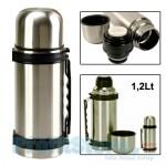 Ανοξείδωτο Θερμός Κενού Αέρα με Στόμιο Ασφαλείας για Καφέ και Ροφήματα 1,2Lt