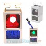 Εντυπωσιακό Φωτιζόμενο Ρολόϊ - Ημερολόγιο - Ξυπνητήρι - Θερμόμετρο